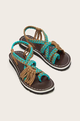 back_Bonnie Elva Mint Green Gladiator Sandals