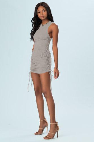 back_All Night Grey Mini Dress