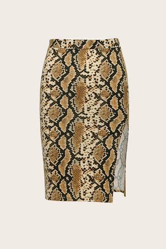 back_Rhea Eileen Snakeskin Print Split Skirt