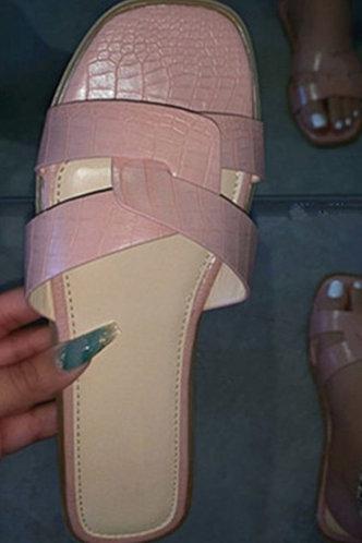 front_Isis Emma Baby Pink Slide Sandals