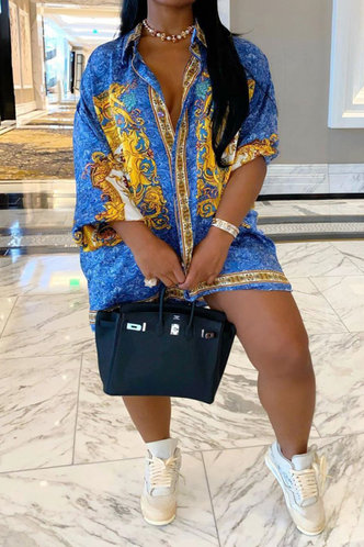 back_Athena Elva Blue Plus Longline Blouse