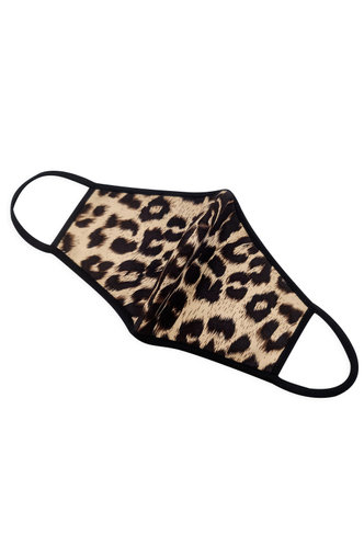 front_Non-Medical Leopard Print Reusable Face Mask