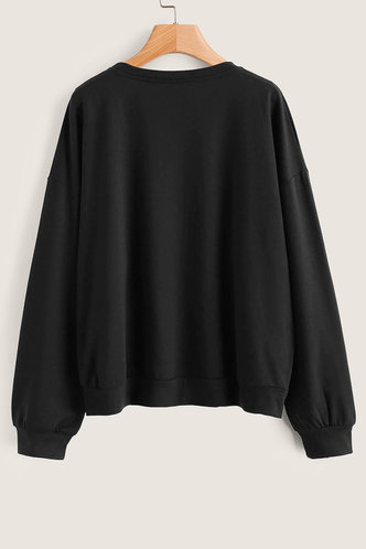 back_Xenophon Black Sweatshirt