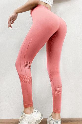 back_Valentine Olive Coral Leggings