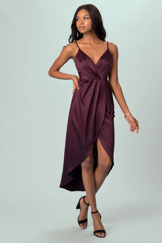 front_After Party Cabernet Midi Dress