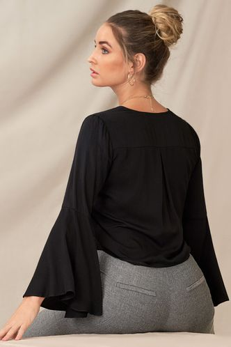 back_Unique Beauty Black Long Sleeve Top