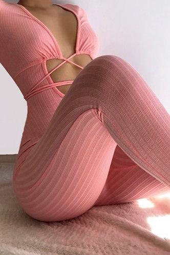 front_Fenton Salmn Pink Jumpsuit