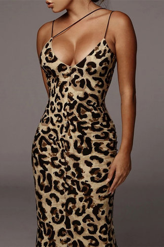 front_May Eden Leopard Print Bodycon Dress