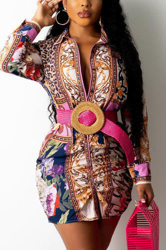 front_Maureen Ethel Multi Print Button Up Dress