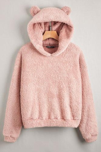 front_Cuddle Me Pink Hoodie