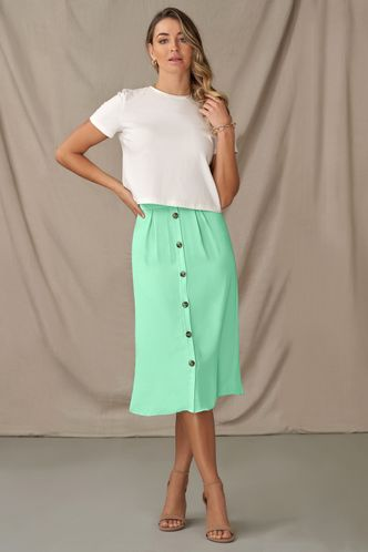 front_Sing A Song Mint Green Skirt