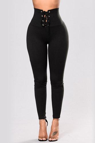 front_Kenna Eunice Black Leggings