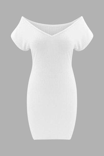 back_Deirdre Land White Off Shoulder Bodycon Dress