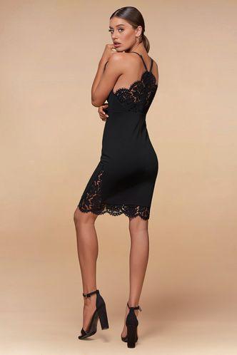 back_The Selection Black Mini Dress