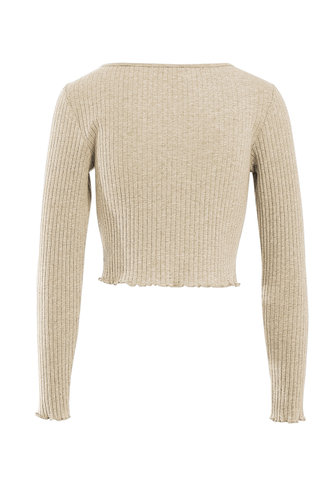 back_Still Home Apricot Ribbed Top