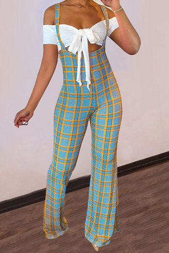 front_Adah Elma White And Blue Plaid Set