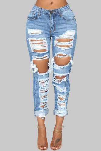 back_Armes Elma Wash Blue Ripped Jeans