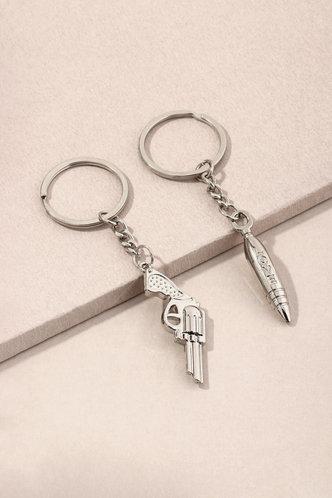 back_Yolande Enid Silver Keychain