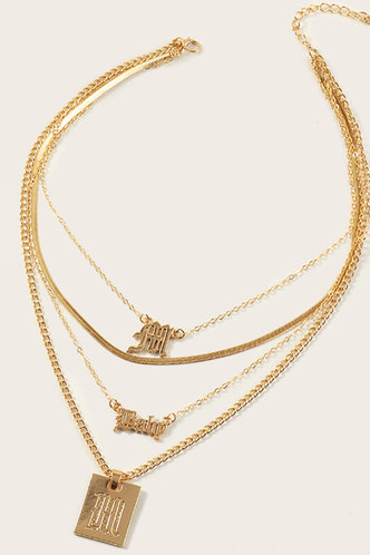 back_Annas Elma Gold Letter Print Layered Necklace