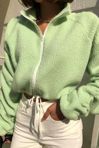 front_Rhea Eartha Mint Green Jacket