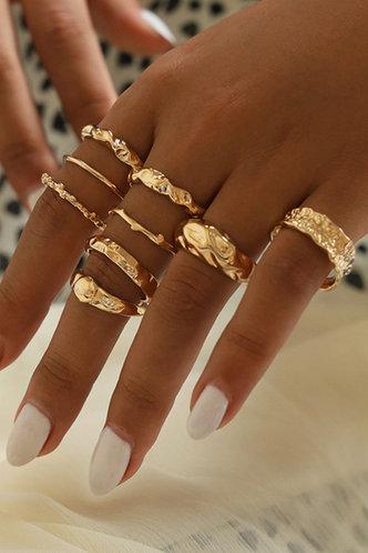 front_Jennie Elizabeth Gold Ring 9pcs