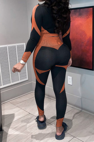 back_Kittie Erica Balck And Orange Set