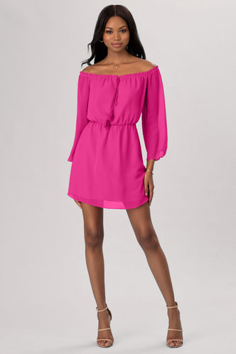 front_Just Dancing Pink Mini Dress