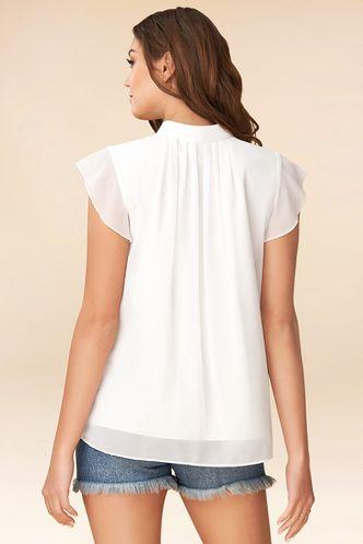 back_Petals Ivory Short Sleeve Top