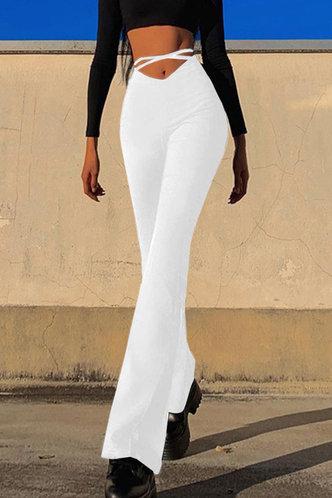 front_Margie Ella White Flare Pants