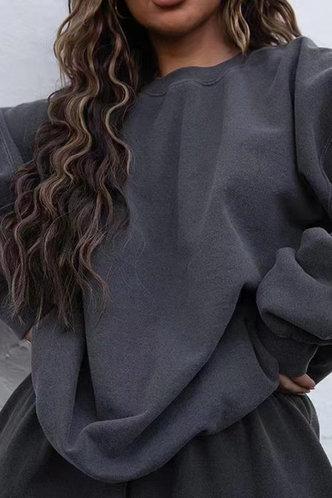 front_Gay Elaine Dark Grey Pullover