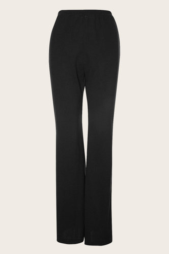 front_Run The World Black High Rise Straight Leg Pants