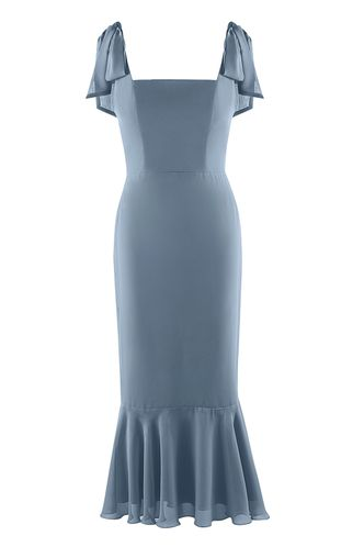back_With Hope Dusty Blue Midi Dress