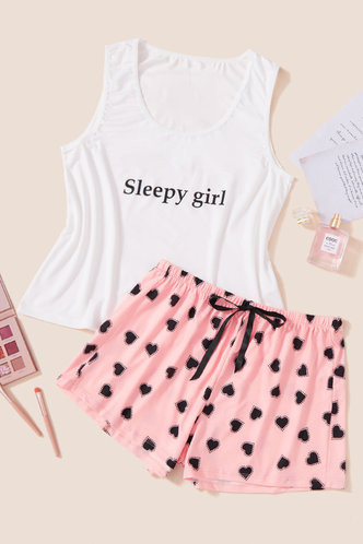 front_Eileen Jarum White And Pink Loungewear Set