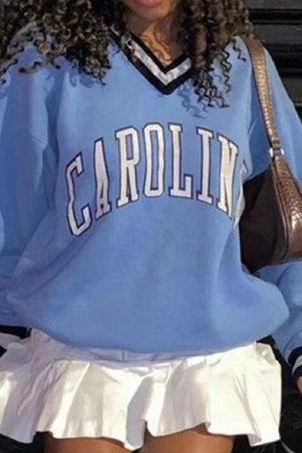 front_Louisa Eve Blue Sweatshirt