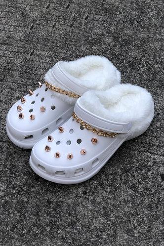 back_Plain Flat White Sandals