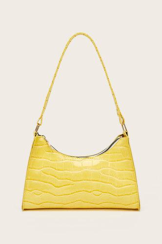 front_Claire Eden Yellow Shoulder Bag