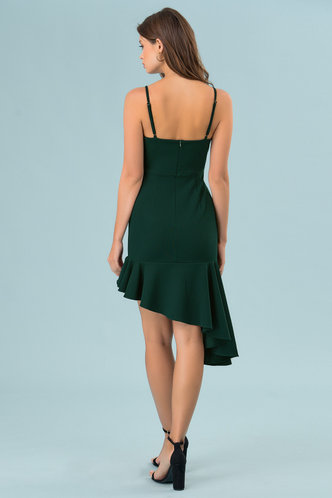 back_Sweet Dreams Dark Emerald Midi Dress