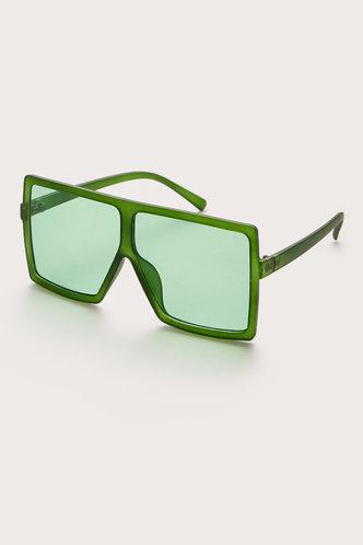 front_Summer Elizabeth Green Square Frame Sunglasses