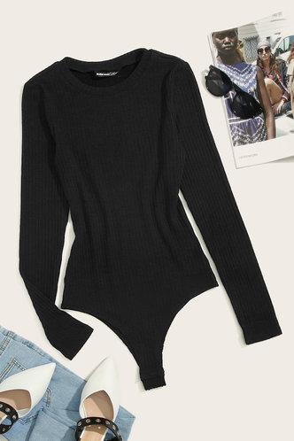 front_Betty Edith Black Bodysuit