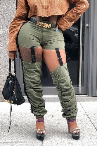 front_Darleen Elsie Army Green Pants