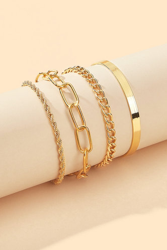 back_Amber Elsie Gold Chiam Bracelet 4pcs