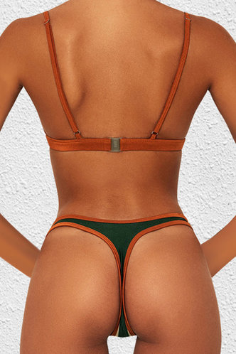 back_Althea Elsie Emerald Green And Beige Bikini