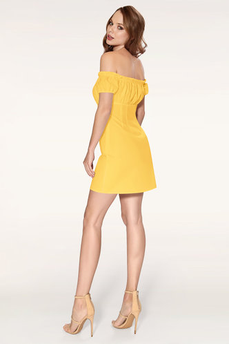 back_Marina Yellow Mini Dress