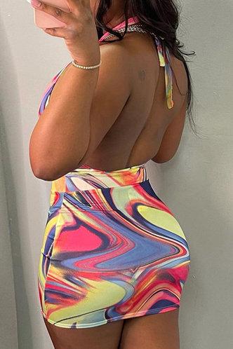 back_Tania Erin Multicolor Halter Cutout Dress