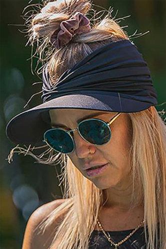 front_Alva Mehhkaprad Black Visor Hat