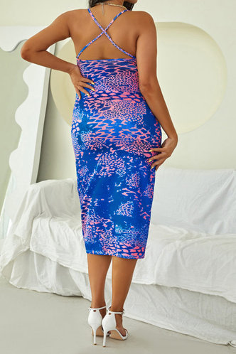 back_Dawn Oktoped Purple Leopard Print Plus Halter Open Back Bodycon Dress