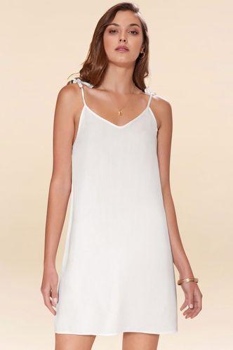 back_Warm Daze White Mini Dress