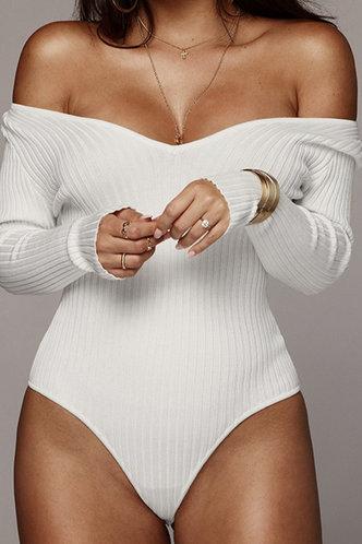 front_Gillian Eleanore White Bodysuit