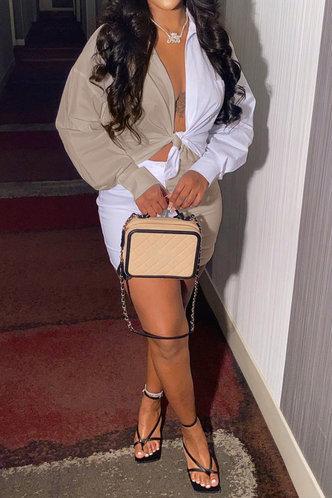 back_Gwendolyn Evangeline White And Khaki Plus Size Skirt Set