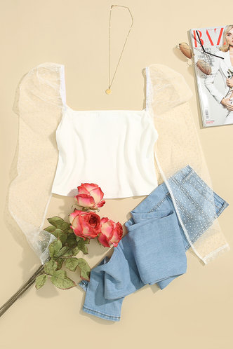 front_Endless love White Blouse